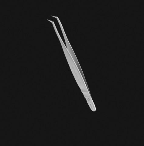 Staleks Пинцет профессиональный для ресниц EXPERT 40 TYPE 2 (L-образный, 70')
