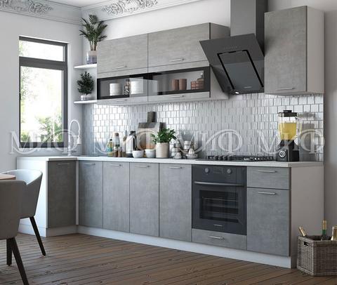 Кухня угловая Техно NEW бетон 1.0-3,2 м