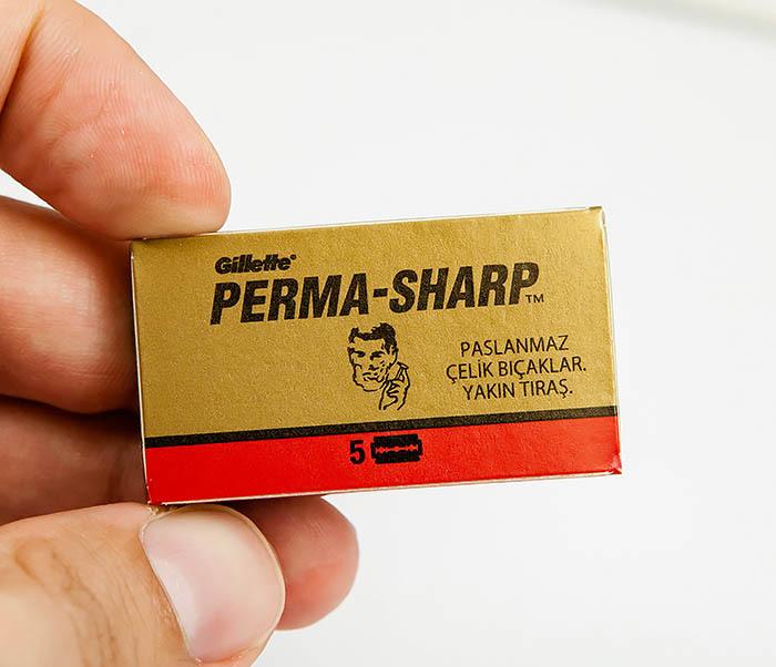 RAZ380 Упаковка из 5 лезвий для станка PERMA SHARP фото 03
