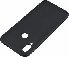 Черный прорезиненный чехол для Xiaomi redmi Note 7