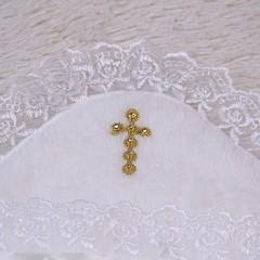 Крыжма для крестин Бантик (айвори)