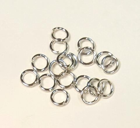 Кольцо одинарное 4 мм цвет плaтина цена за 25 штук