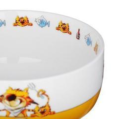 MILLIMI Полосатый Кот набор детской посуды,3 предмета, Костяной фарфор