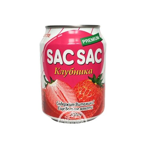 Напиток негазированный SAC SAC с мякотью клубники 238мл Lotte Корея
