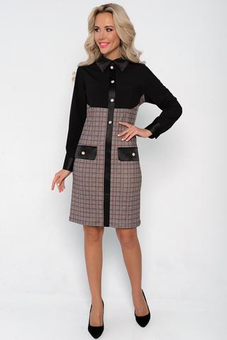 """<p>Желаете разнообразить свой офисный гардероб, тогда Вам к нам! Шикарная модель в стиле """"Шанель"""" - идеально подойдет для важной встречи!</p> <p>Платье приталенного силуэта, рукав длинный на манжете, по спинке замок.</p> <p>(Длины: 46-93см; 48-94см; 50-95см; 52-96см)</p>"""