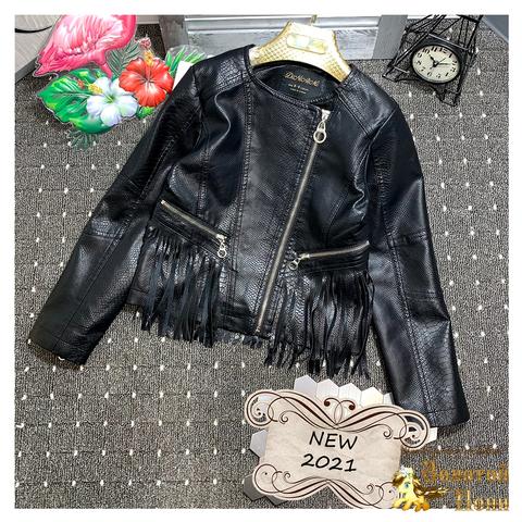 Куртка экокожа девочке (6-13) 210328-К-74018