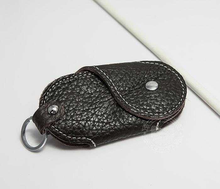 KK409-2 Ключница из натуральной кожи с кольцом фото 03