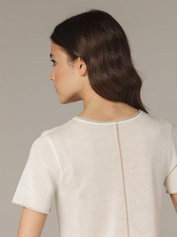 Белый легкий джемпер из тончайшего шелка и вискозы - фото 4