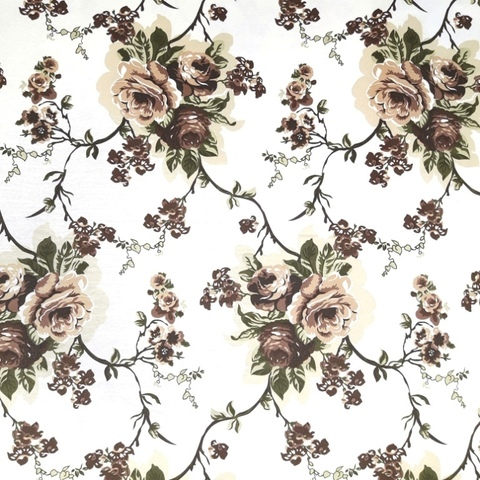 Уличная ткань Sweet Juliet коричневые. Ширина - 180 см. Арт. duck_9020_1