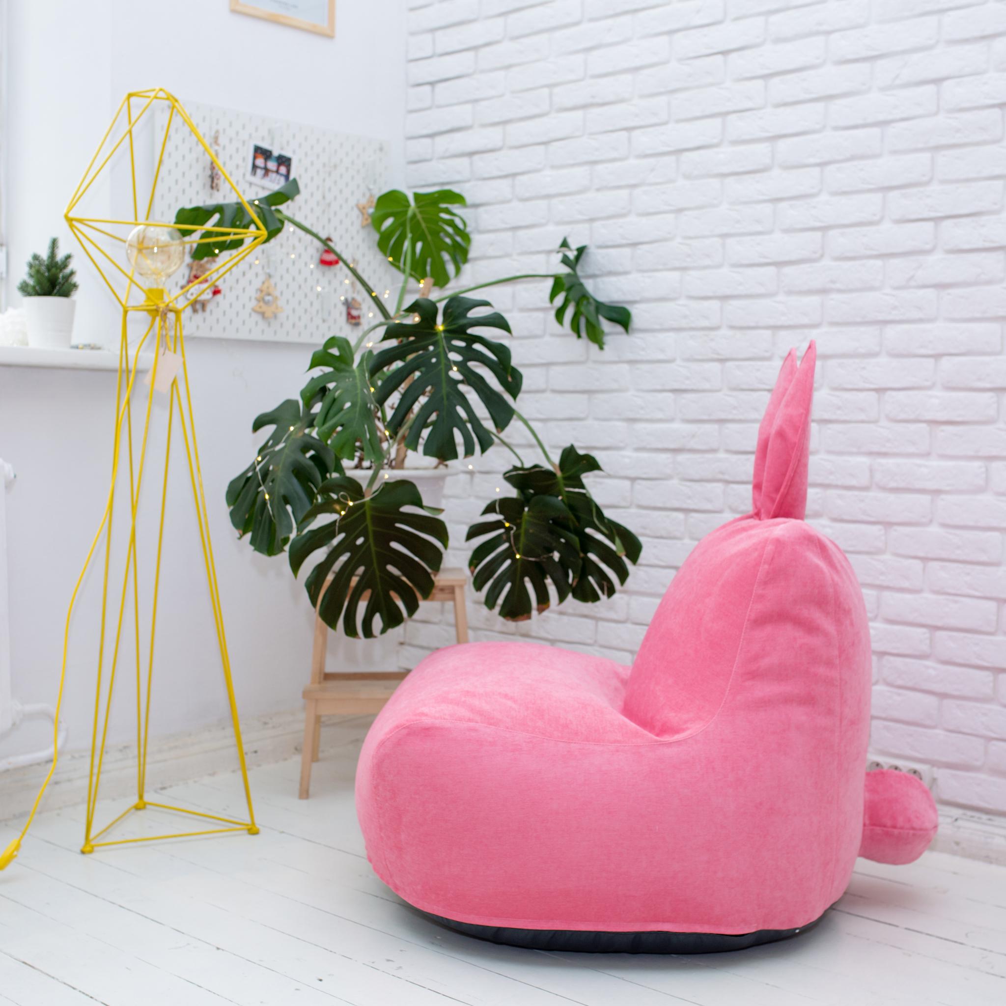 Кролик M микровельвет (розовый)