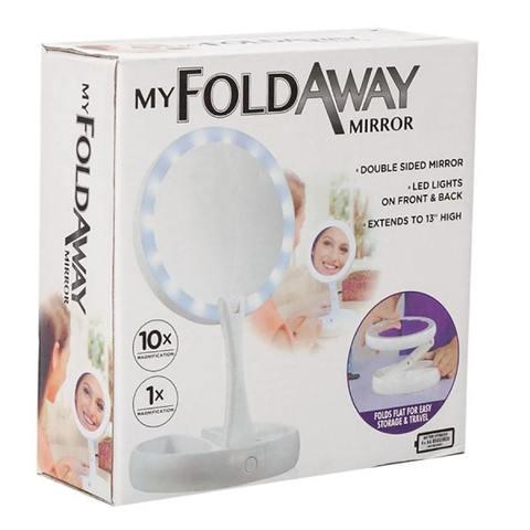 Зеркало со светодиодной подсветкой My FoldAway Mirror Круглое