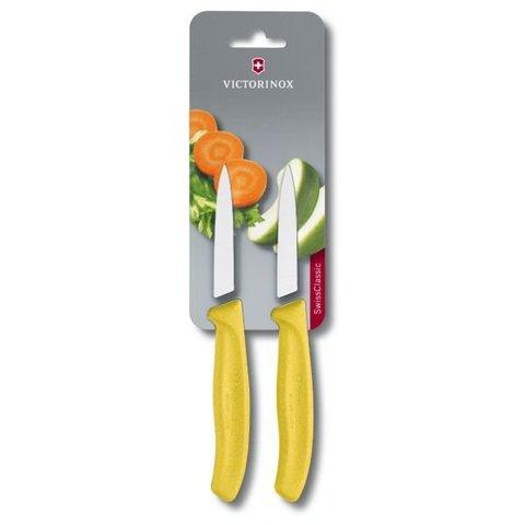 Набор Victorinox кухонный, 2 предмета, лезвие прямое, желтый
