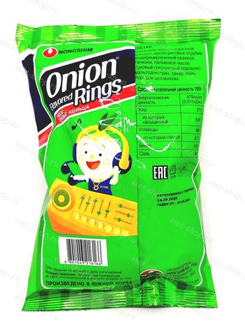 Чипсы луковые кольца Onion Rings, Корея, 40 гр.