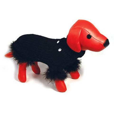 5615006 DEZZIE Свитер д/собак вязанный черный, 30см
