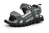 Сандалии Трансформеры (Transformers) на липучках для мальчиков, цвет серый. Изображение 1 из 7.