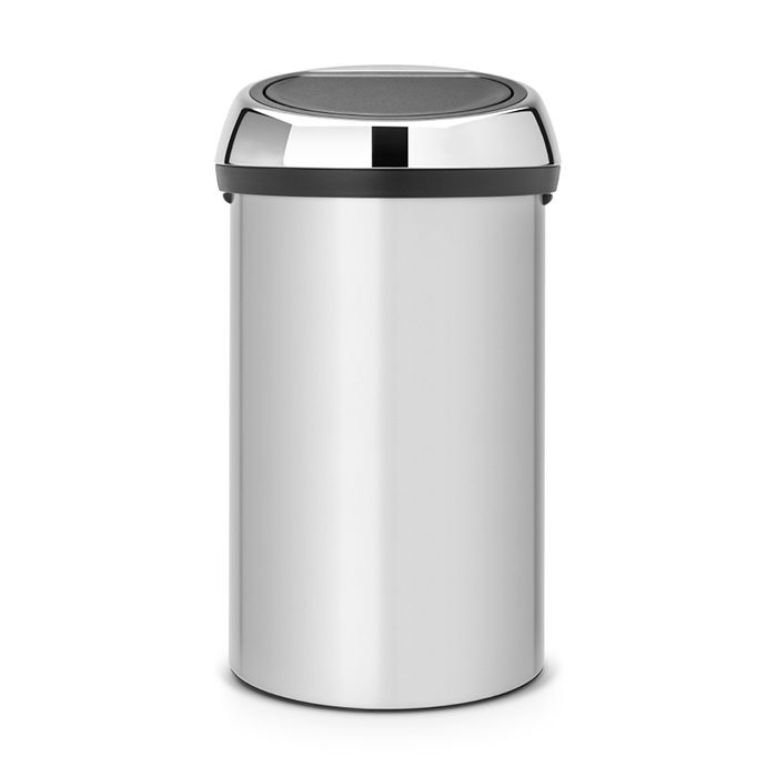 Мусорный бак Touch Bin (60 л), Серый металлик, арт. 402425 - фото 1