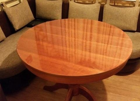 Скатерть круглая прозрачная 85 см толщина 2 мм