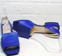 Синие женские босоножки натуральная кожа Amy Michelle 2634 Ultra Blue.