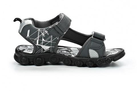 Сандалии Трансформеры (Transformers) на липучках для мальчиков, цвет серый. Изображение 2 из 7.