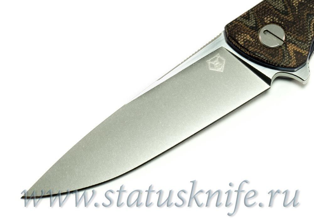 Нож Широгоров Кастом Ф3 S30V Микарта Питон 3D - фотография