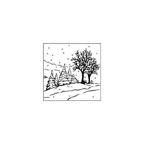 Папка для тиснения Nellie's Choice Picture Embossing Folder- Winter Landscape