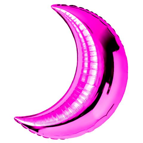 Шар-полумесяц ярко-розовый, фуксия 71 см