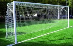 Ворота футбольные стационарные 7.32 х 2.44 м (пара), d=89мм.