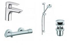 Комплект смесителей с душевым гарнитуром Kludi Pure&Solid 348490575 фото