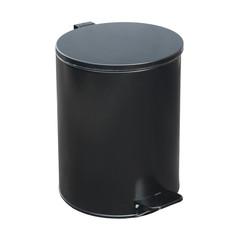 Ведро для мусора с педалью 15 л оцинкованная сталь черное (25х33 см)