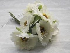 Букет цветов Дикий мак кремовый