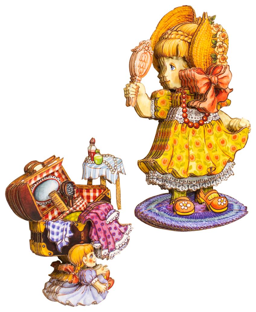 Папертоль Маленькая леди — готовая работа, вид сбоку.