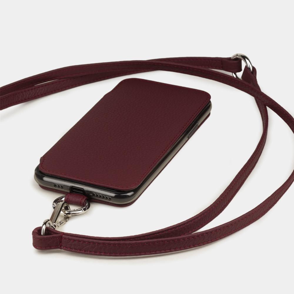 Чехол Marcel для iPhone 11 Pro Max из натуральной кожи теленка, бордового цвета