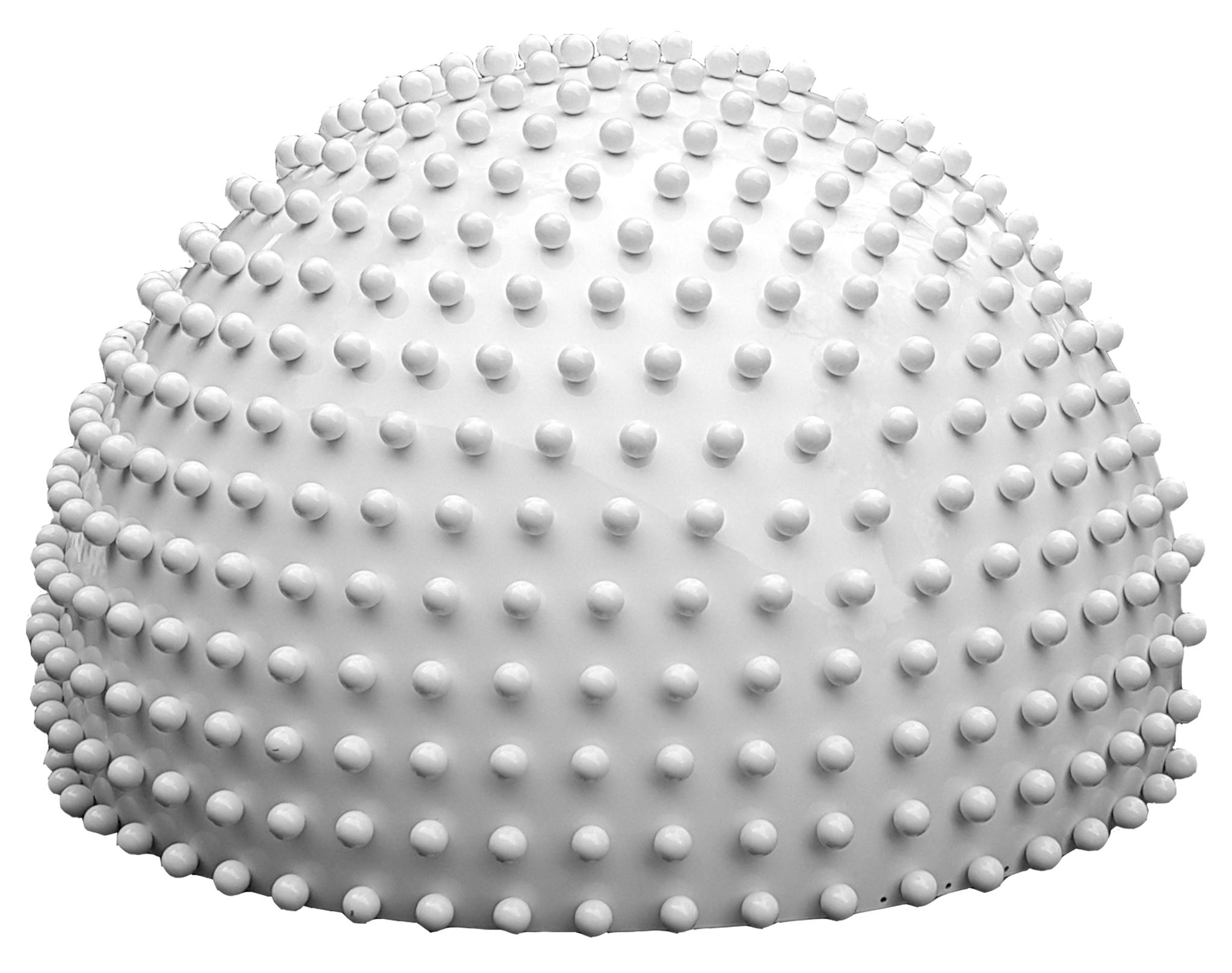 Semisphere, white, matt, with small spheres, Ø = 0,06m