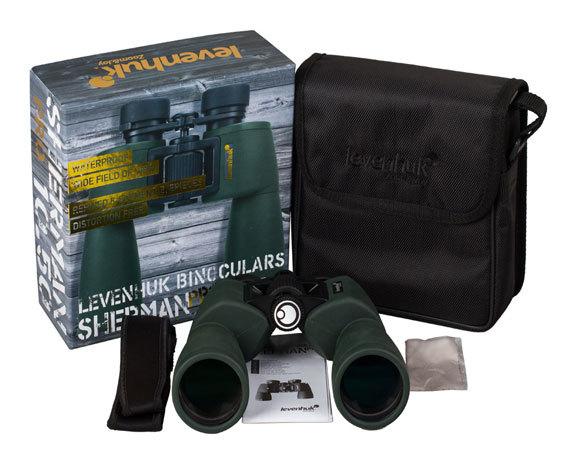 Бинокль Levenhuk Sherman Pro 10 50, сумка, ремень, салфетка