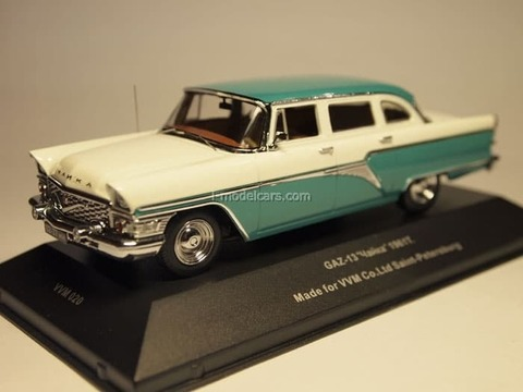GAZ-13 Seagull 1960 movie Russian souvenir turquoise-white 1:43 VVM / VMM
