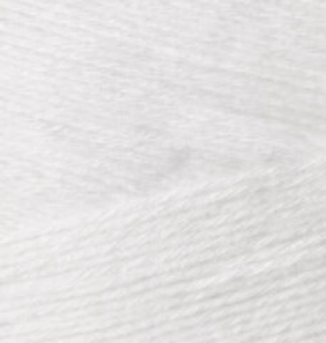 Пряжа Bamboo Fine Alize 55 белый, фото