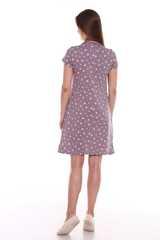 Мамаландия. Сорочка для беременных и кормящих с кнопками короткий рукав, звезды/коричневый вид 4