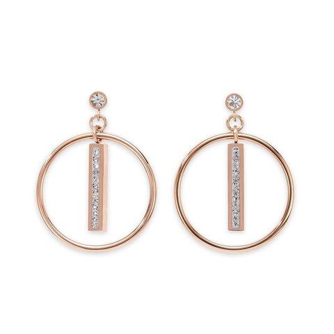 Серьги Crystal 5001/21-1800 цвет белый, золотой