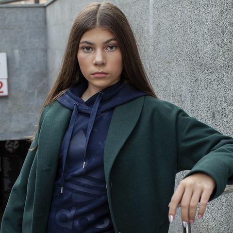 Підліткове кашемірове пальто зеленого кольору на дівчинку