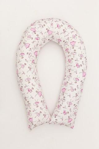 Подушка для беременных U360 (холлофайбер) 10553 балерины, белый