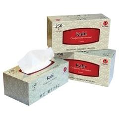 Салфетки бумажные белые, Maneki, Kabi, 2 слоя, коробка, 250 шт
