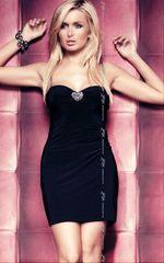 Черное эротичное платье Elly -
