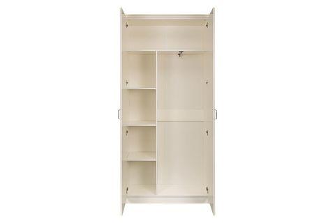 Шкаф для одежды Ливерпуль Моби белый/ясень ваниль