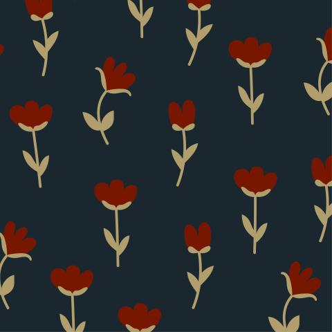 Минималистичные цветы на темном фоне
