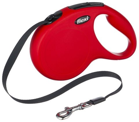 Flexi поводок-рулетка New Classic L (до 50 кг) лента 5 м (красная)