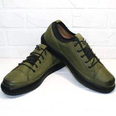 Стильные кеды туфли мужские Luciano Bellini C2801 Nb Khaki.