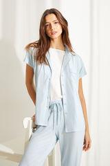 Піжама сорочкового крою з короткими рукавами і плямистим принтом