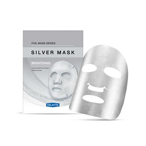 Выравнивающая тон фольгированная  тканевая маска для лица Silver Mask Brightening 23г