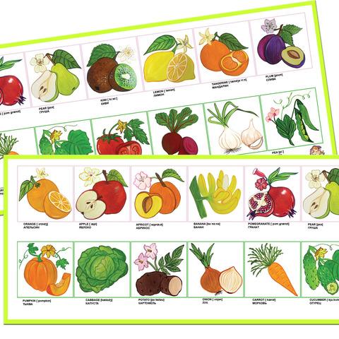 Набор для обучения: Английский язык: Фрукты и овощи (Fruits and vegetables)