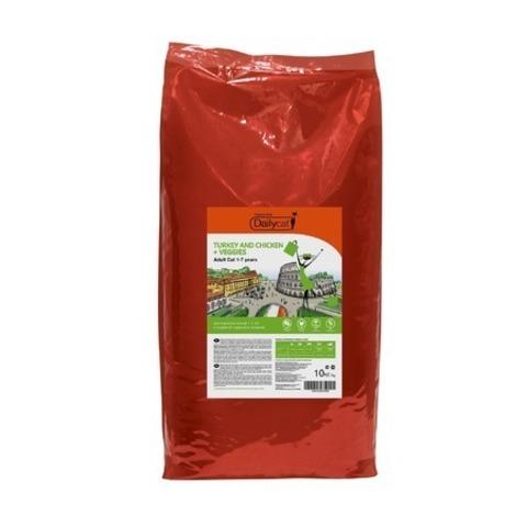 10 кг. Dailycat Casual Line Adult Turkey, Chicken and Veggies корм для кошек с индейкой, курицей и овощами